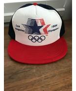 Vintage New 1984 Los Angeles LA Olympics Snapback Blue Mesh Foam Trucker... - $35.00
