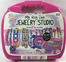 Just My Style Jewelry Studio W/ Tray Wheel Create 20+ Bracelets 17770+ B... - $19.95