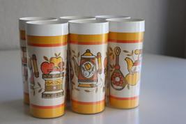 Vintage Lot of 6 Drinking Glasses Mid Century R... - $23.75