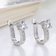 2018 New Arrival Korean Style Best Friends Silver Color Earrings U Shape Stud image 5