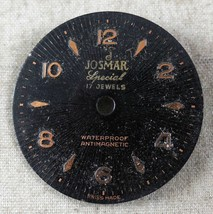 Vintage Josmar Special Dial Antimagnetic 17J FROM OLD STOCK NEW DIAL#15 - $7.64