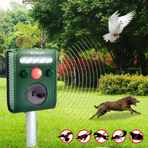 KCASA KC-JK369 Garden Ultrasonic PIR Sensor Solar Animal Repeller Strong... - $28.20