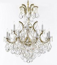 Made with Swarovski Crystal Maria Theresa Chandelier Lights Fixture Pendant Ceil - $633.33