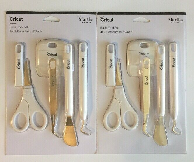 Primary image for (New) Cricut Basic Tool Set by Martha Stewart Gold Edition LOT OF 2
