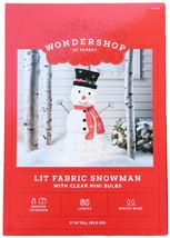 "Wondershop 37"" Lit Fabric Snowman Display with 50 Clear Mini Bulbs Yard Decor image 2"