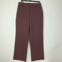 Talbots Womens Petite Stretch Brown Pants Size Small PS Zip Front EUC - $19.78