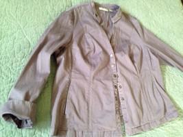 Coldwater Creek Snap Front Jacket Purple Plus 20 - 22 C4 - $7.93