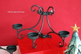 CRATE & BARREL IRON VOTIVE SCONCES (2) -NEW- DRIVE SOME STYLE RIGHT UP THE WALL! image 2