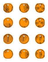 Halloween Drink Charms 3-Digital Clipart-Glass Tag-Party-Holiday-Scrapbook - $3.99
