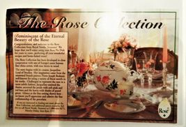 """The Rose Collection Pink Roses Fluted Edge Ceramic Pie Pan Tart Plate 9"""" image 4"""