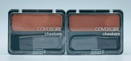 2x Covergirl 130 ICED CAPPUCCINO Cheekers Blush New Factory Sealed Free ... - $12.99