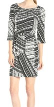 NWT Women's JS5N7408 Jessica Simpson Black Printed Blouson Dress Size 6 - $42.56