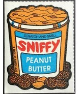 Vintage Mello Smello Sniffy Peanut Butter Sticker Scented Scratch and Smell - $8.99