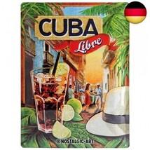 Nostalgic-Art 23182 Open Bar - Cuba Libre, Blechschild 30x40 cm - $24.82