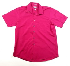 Van Heusen Mens 16 1/2 Red Short Sleeve Wrinkle Free Button Up Dress Shi... - $4.99