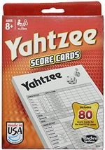 Hasbro Yahtzee Score Pads 80 Cards Refill Pack For Board Game - $11.99