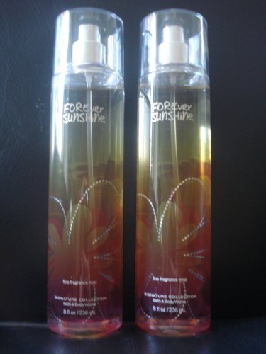 Bath & Body Works Forever Sunshine Fine Fragrance Mist 8 oz / 236 ml (Lot of 2)