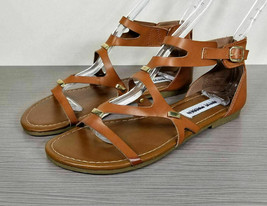 Steve Madden 'Comma' Gladiator Sandal, Brown, Womens Size 4 - $15.95