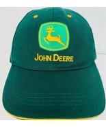 John Deere Hat Green Farming Gardening Embroidered Baseball Cap Broken In  - $23.75
