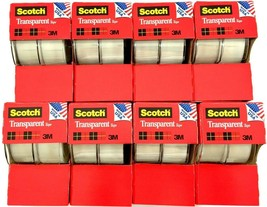 Best Scotch Tape Transparent 3/4 Dispenser Clear Pack Rolls Office Suppl... - $19.99