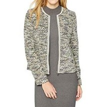 Calvin Klein Blazer Jacket Tweed Trim Multicolor Career Women Sz 12 NEW NWT - $69.99