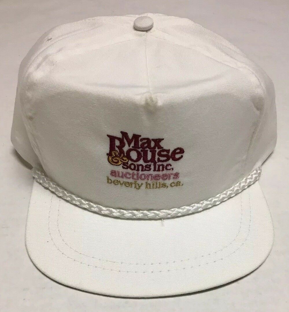 Primary image for Vtg Max Rouse & Sons Inc Hat Auction Beverly Hills CA Cap Destroyed Made in USA