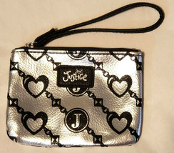 JUSTICE – Girl's Silver and Black Wristlet – 5 in. x 3.5 in. - $9.90