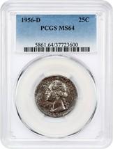 1956-D 25c PCGS MS64 - Washington Quarter - $29.10
