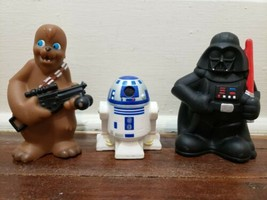 Disney Parks Star Wars Bath Pool Toys Set, Darth Vader - Chewbacca - R2-D2 - $12.59