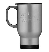 25th Silver Wedding Anniversary Travel Mug 2017 - $21.99