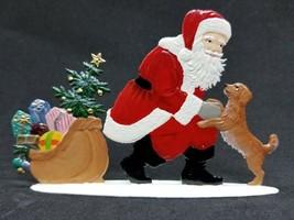 """WILHELM SCHWEIZER GERMAN ZINNFIGUREN - Santa with Faithful Friends 4.25""""... - $118.00"""
