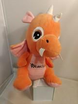 """Orange & pink Krakow Dragon Plush 16"""" For Fun Toys Stuffed Animal Toy - $14.01"""