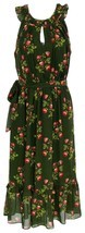 J Crew Women's Point Sur High-Neck Ruffle Floral Dress Chiffon 4 J5088 - $91.99