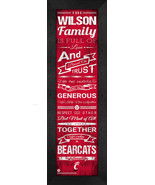 "Personalized University of Cincinnati Bearcats""Family Cheer"" 24 x 8 Fram... - $39.95"