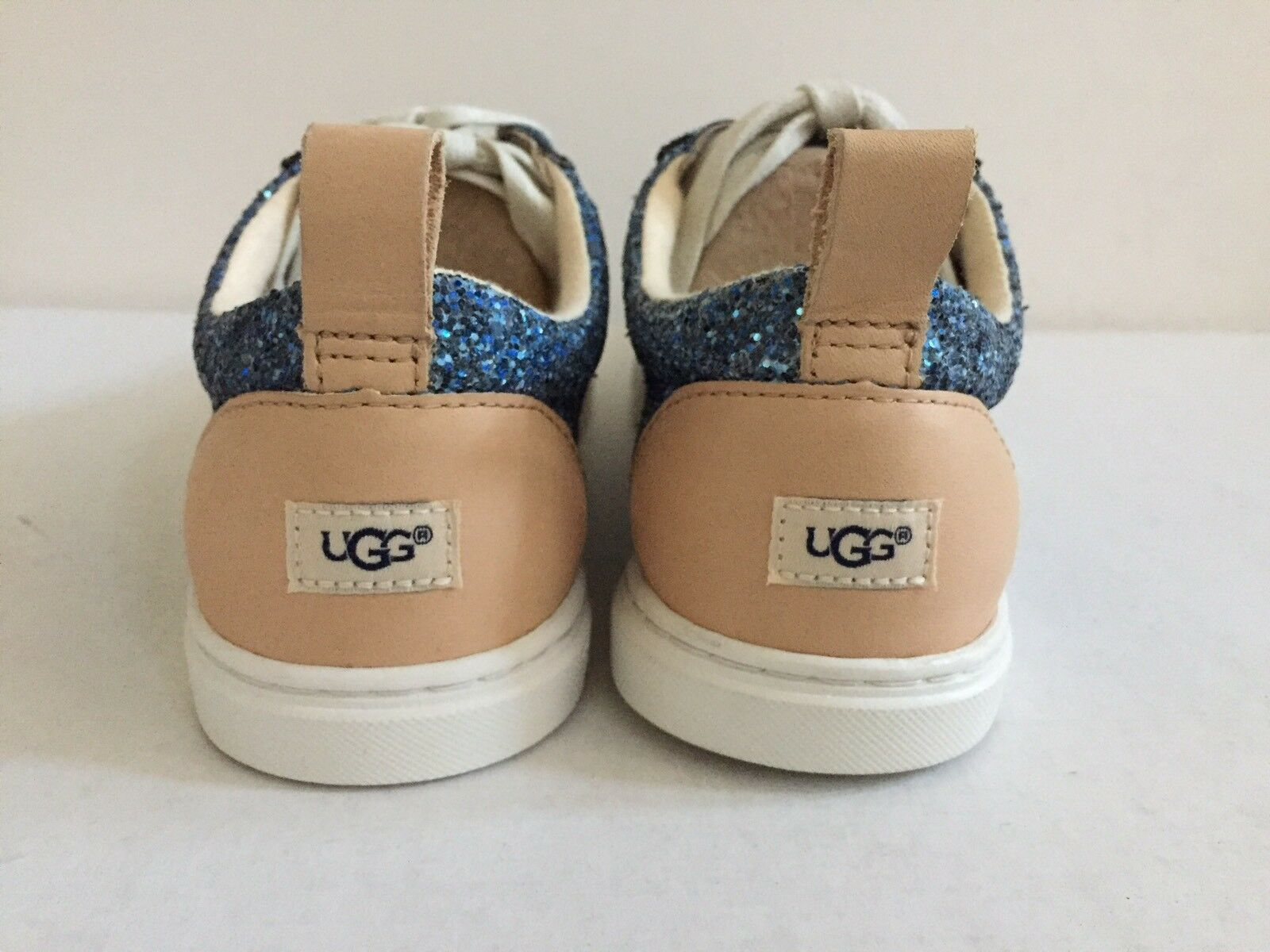 UGG KARINE CHUNKY GLITTER BLUE MULTI LACE UP SNEAKERS US 7 / EU 38 / UK 5.5 NIB image 4