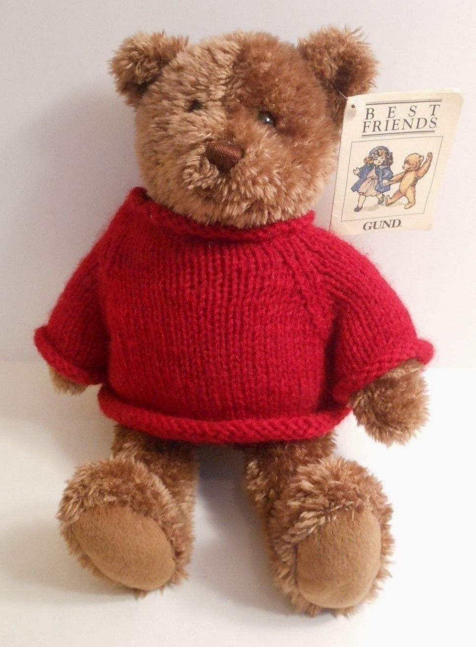 Gund Best Friends Bear Red Sweater 12 Plush And 50 Similar Items Pusheen Holiday With Written Note Inside Of Tag
