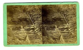 Waterfall People on Staircase New York Ernsberger & Ray Stereoview Aubur... - $47.52