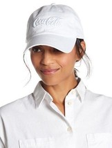 American Needle Coca Cola Slouch Cotton Baseball Cap White Gift One Size OS - $18.52