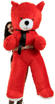 American Made 6 Foot Giant Red Teddy Bear Soft 72 Inch Life Size Brand New - $127.11