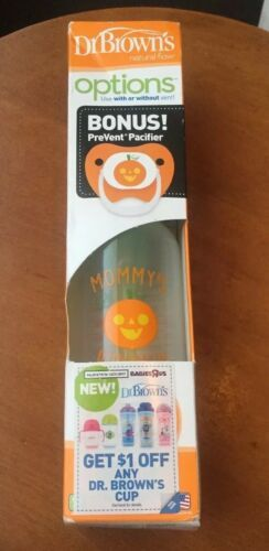 "Primary image for NEW! Dr Brown's Bottle Special Edition Halloween ""Mommy's Pumpkin"" 8 oz w. BONUS"
