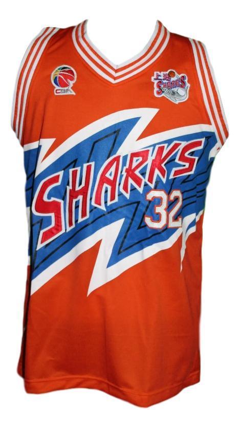 Jimmer fredette  32 shanghai sharks basketball jersey orange   1