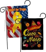 Sombrero Cinco De Mayo Burlap - Impressions Decorative Support Our Troops Garden - $34.97