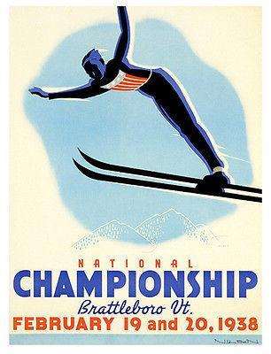 Primary image for 1938 U.S. Ski Jumping Championships - Promotional Advertising Poster