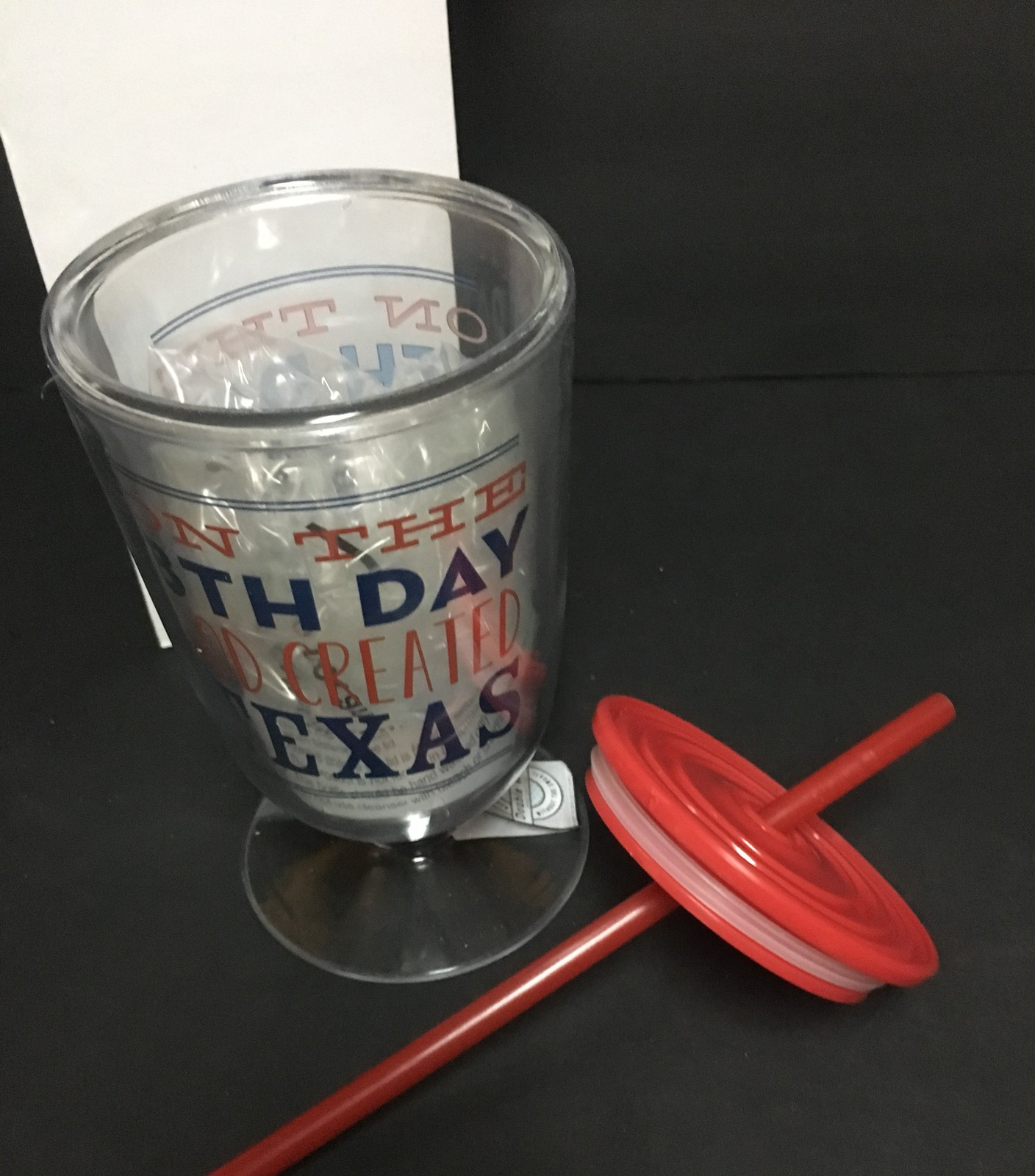 ON THE 8TH DAY GOD CREATED TEXAS 8 OZ Ice Tea Beverage Cup
