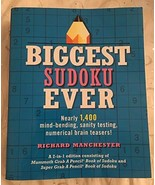 Biggest Sudoku Ever Giant Puzzle Book [Paperback] Richard Manchester - $29.65