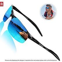 ROCKNIGHT Polarized Sports Sunglasses for Men Blue Sunglasses Al Mg Ultr... - $31.45