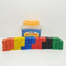 Pressman Bucket Of DOUBLE SIX COLORED DOMINOES Set of 167 Classic Mexica... - $13.86