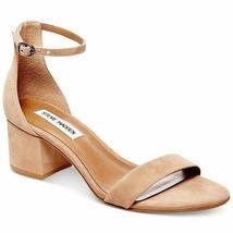 Steve Madden Women's IRENEE Open Toe Ankle Strap Heels,Tan Nubuck, NIB S... - $39.59