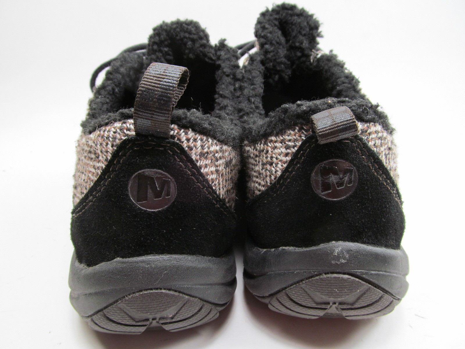 MERRELL Performance Women's Black Suede & Faux Fur Walking Shoes 9 M image 3