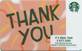 Starbucks 2018 Thank You Pink Collectible Gift Card New No Value - $1.99